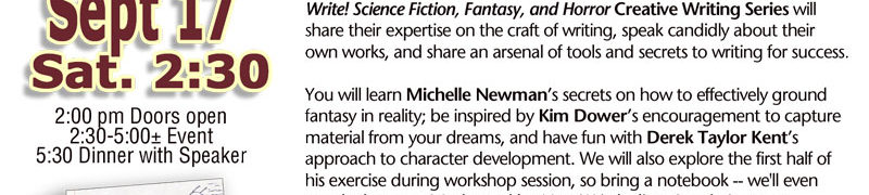 Now Write! Panel: Capturing Your Dreams – How to Craft a Bestselling Fantasy Novel
